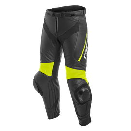 DELTA 3 LEATHER PANTS BLACK/BLACK/FLUO-YELLOW