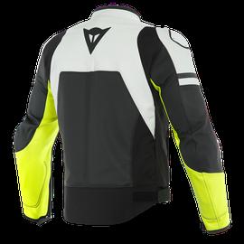 AGILE PERF. LEATHER JACKET BLACK-MATT/WHITE/FLUO-YELLOW- Jackets