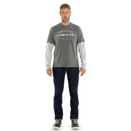 PADDOCK T-SHIRT LS CHARCOAL-GRAY/GLACIER-GRAY- Casual Wear