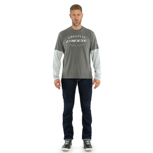 T-SHIRT PADDOCK LS CHARCOAL-GRAY/GLACIER-GRAY- Casual Wear