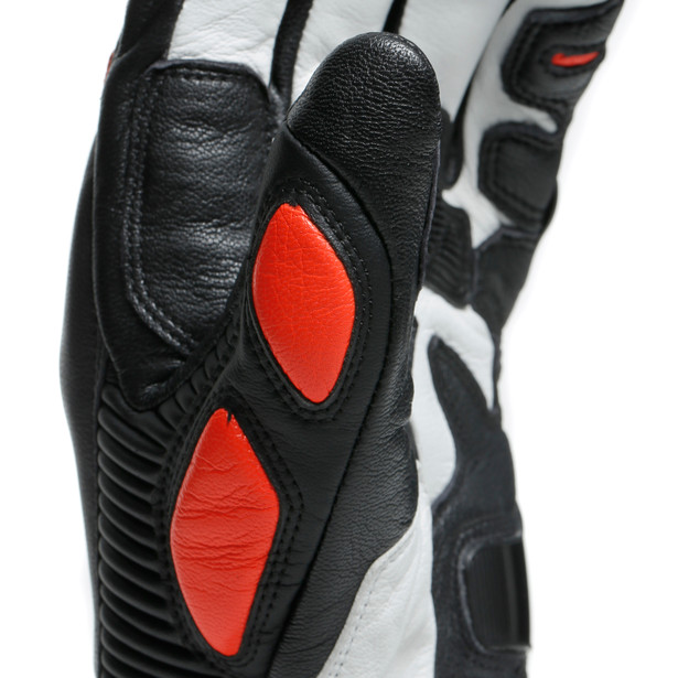 DRUID 3 GLOVES BLACK/FLUO-RED- Pelle