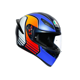K1 MULTI ECE DOT - POWER MATT DARK BLUE/ORANGE/WHITE