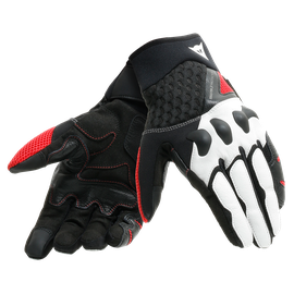 X-MOTO UNISEX GLOVES BLACK/WHITE/LAVA-RED- Leder