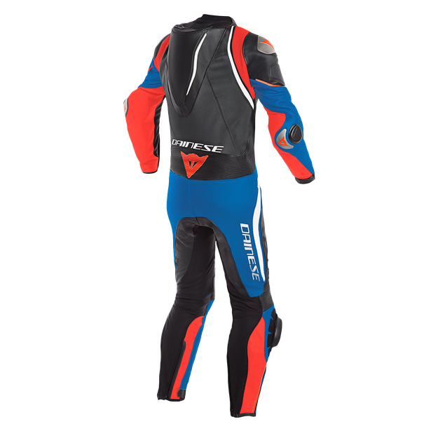 LAGUNA SECA 4 1PC PERF. LEATHER SUIT BLACK/WHITE/LIGHT-BLUE- Professionnelles