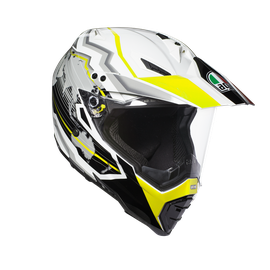 AX-8 DUAL EVO E2205 MULTI - EARTH WHITE/BLACK/YELLOW FL. - Full-face