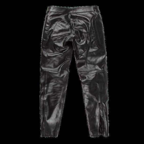 PIEGA72 LEATHER PANTS BLACK- Pants