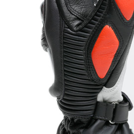 DRUID 3 GLOVES BLACK/FLUO-RED- Leder