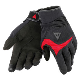 DESERT POON D1 UNISEX GLOVES BLACK/RED- Tessuto