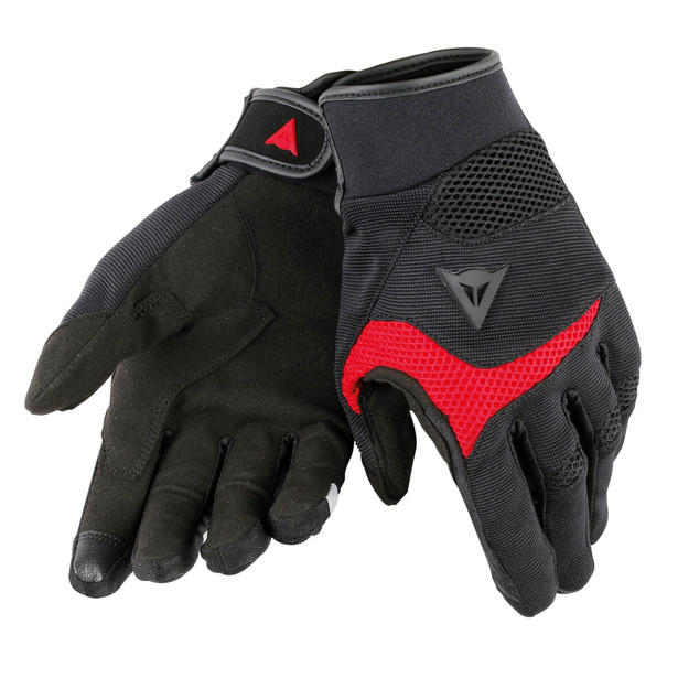 DESERT POON D1 UNISEX GLOVES BLACK/RED- Tissus