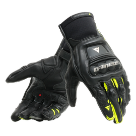 STEEL-PRO IN GLOVES BLACK/FLUO-YELLOW- Pelle