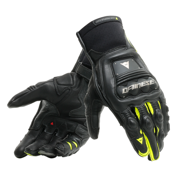STEEL-PRO IN GLOVES BLACK/FLUO-YELLOW- Leather