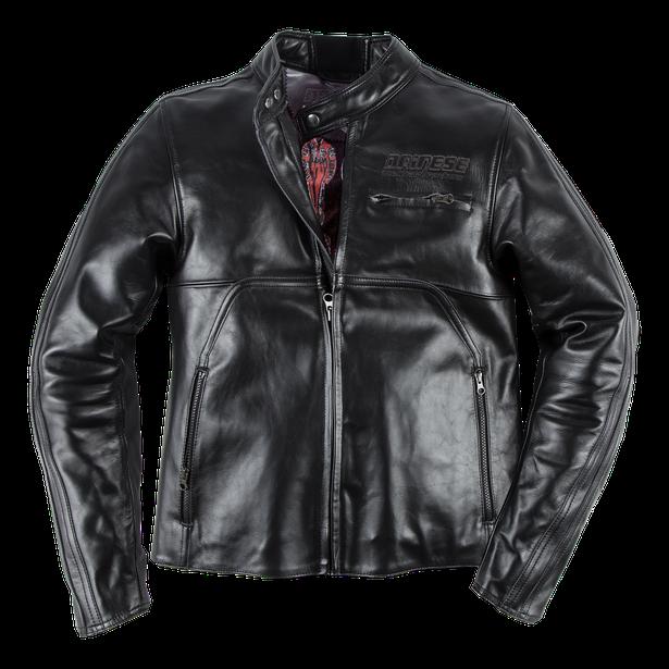 TOGA72 LEATHER JACKET BLACK- Motorbike