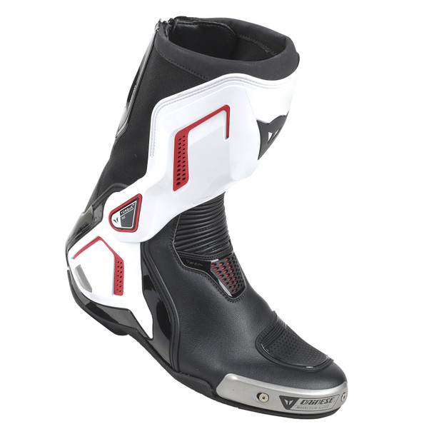 TORQUE D1 OUT BOOTS BLACK/WHITE/LAVA-RED- Leder