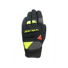 VR46 CURB SHORT GLOVES BLACK/ANTHRACITE/FLUO-YELLOW