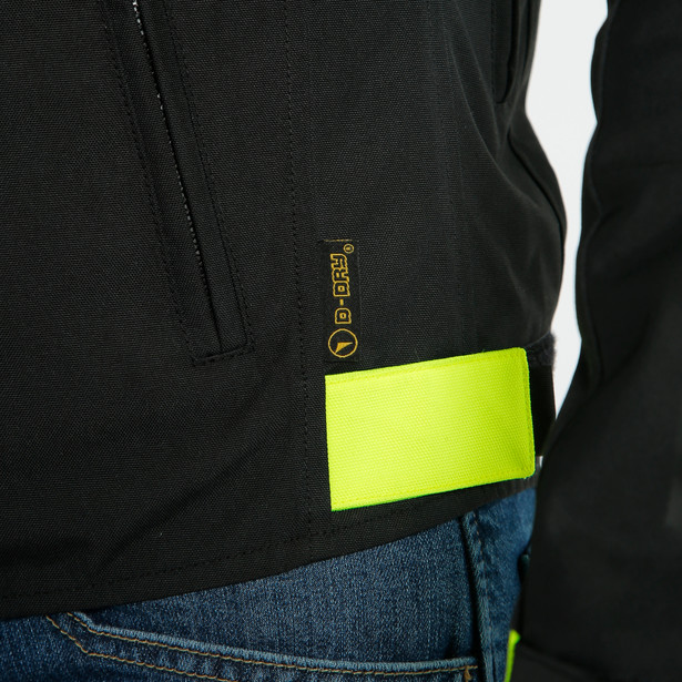 SAETTA D-DRY JACKET BLACK/FLUO-YELLOW/BLACK- D-Dry®