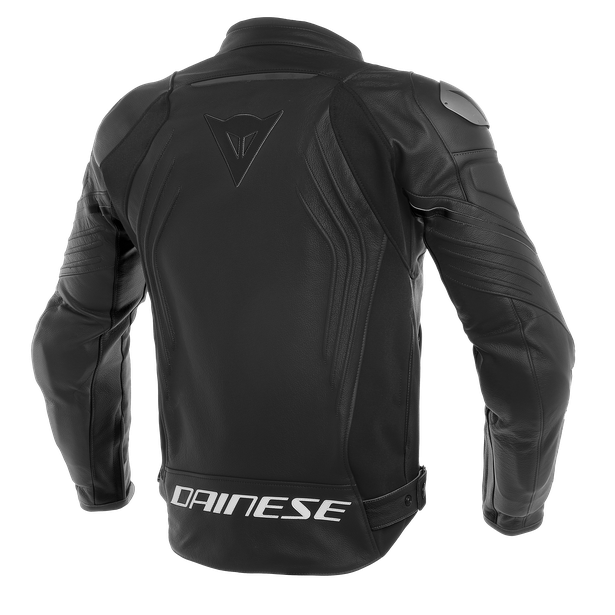 RACING 3 LEATHER JACKET BLACK/BLACK/BLACK- Cuir