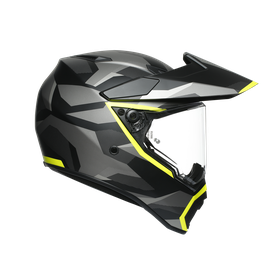 AX9 MULTI E2205 - SIBERIA MATT BLACK/YELLOW FLUO - Cascos
