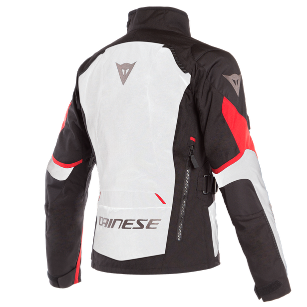 TEMPEST 2 D-DRY LADY JACKET LIGHT-GRAY/BLACK/TOUR-RED- Blousons