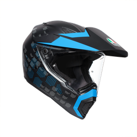 AX9 MULTI ECE DOT - ANTARTICA MATT BLACK/CYAN