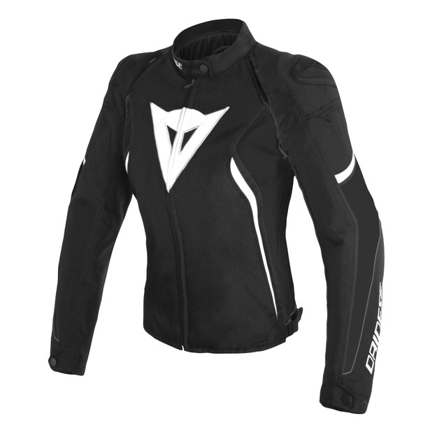 AVRO D2 TEX LADY JACKET BLACK/BLACK/WHITE- Textile