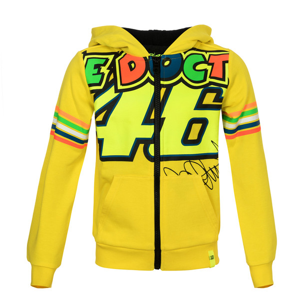 THE DOCTOR 46 KID HOODIE YELLOW- VR46
