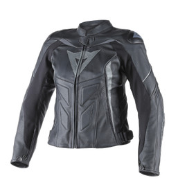 AVRO D1 LADY LEATHER JACKET BLACK/BLACK/ANTHRACITE