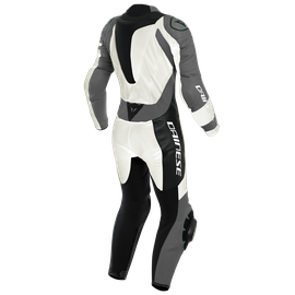 KILLALANE 1 PC PERF. LADY LEATHER SUIT PEARL-WHITE/CHARCOAL-GRAY/BLACK- Sonderangebote Motorrad
