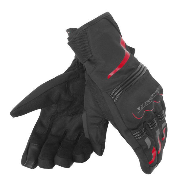 TEMPEST UNISEX D-DRY® SHORT GLOVES BLACK/RED- D-Dry®