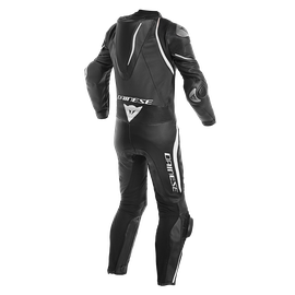 LAGUNA SECA 4 1PC PERF. LEATHER SUIT BLACK/BLACK/WHITE- One Piece Suits