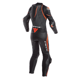 LAGUNA SECA 4 1PC PERF. LADY LEATHER SUIT BLACK/BLACK/FLUO-RED- Einteiler