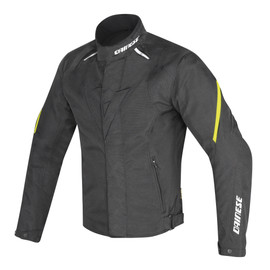 LAGUNA SECA D1 D-DRY® JACKET BLACK/BLACK/YELLOW-FLUO- Jackets
