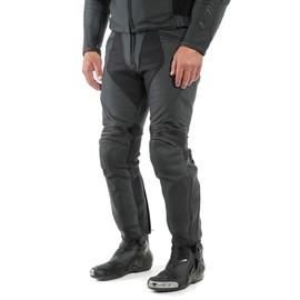 PONY 3 PERF. LEATHER PANTS BLACK-MATT- Cuir