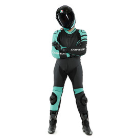 KILLALANE 1 PC PERF. LADY LEATHER SUIT BLACK-MATT/ACQUA-GREEN/BLACK- undefined