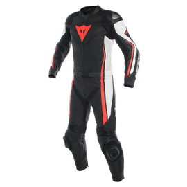 ASSEN 2 PCS PERF. SUIT BLACK/WHITE/FLUO-RED