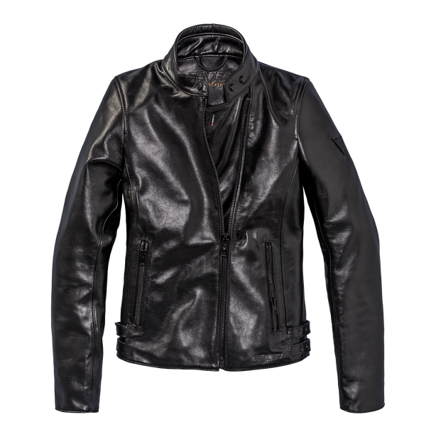 CHIODO72 LADY LEATHER JACKET BLACK- Motorbike