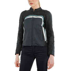 LOLA 3 LADY LEATHER JACKET BLACK/EBONY/N.-ATLANTIC/GLACIER-GRAY- Jacken