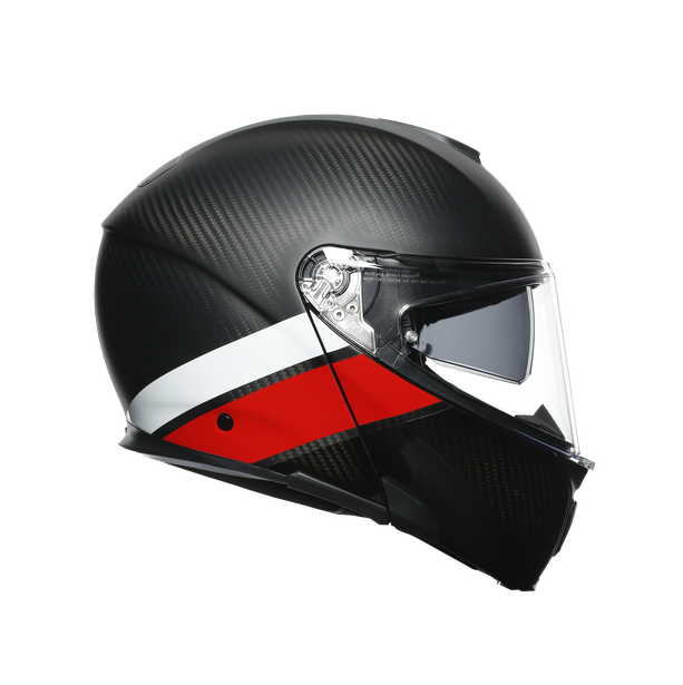 SPORTMODULAR MULTI E2205 - LAYER CARBON/RED/WHITE - Flip-up