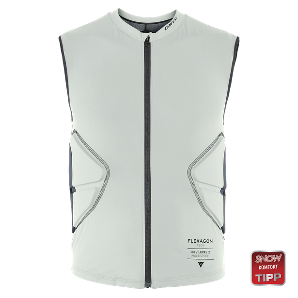 FLEXAGON WAISTCOAT MAN PURITAN-GRAY/STRETCH-LIMO- Ski Schutz