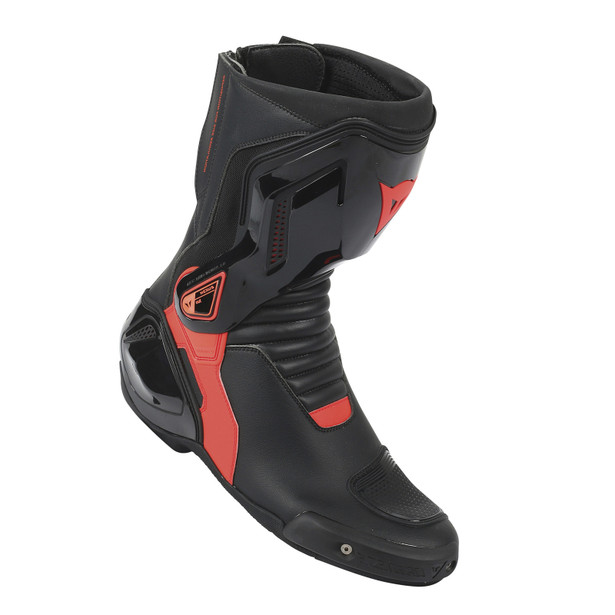 NEXUS BOOTS BLACK/FLUO-RED- Pelle