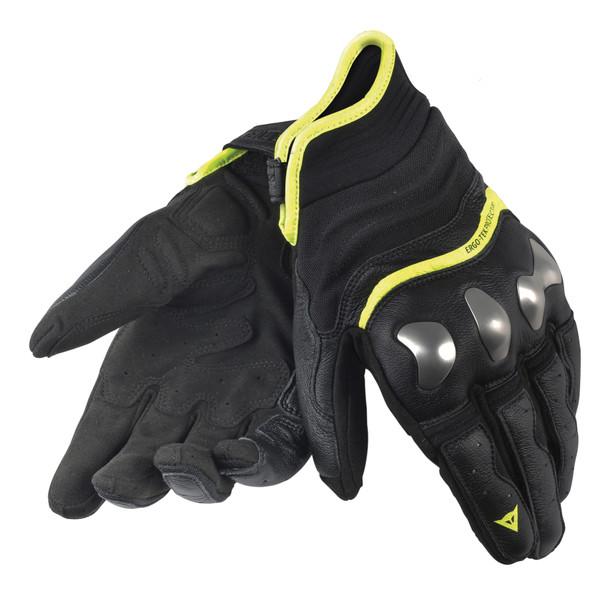 X-RUN GLOVES BLACK/YELLOW-FLUO- Gloves