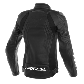 RACING 3 LADY LEATHER JACKET BLACK/BLACK/BLACK- Moto para ella
