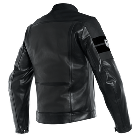 8-TRACK PERF. LEATHER JACKET BLACK/BLACK/BLACK- Jacken