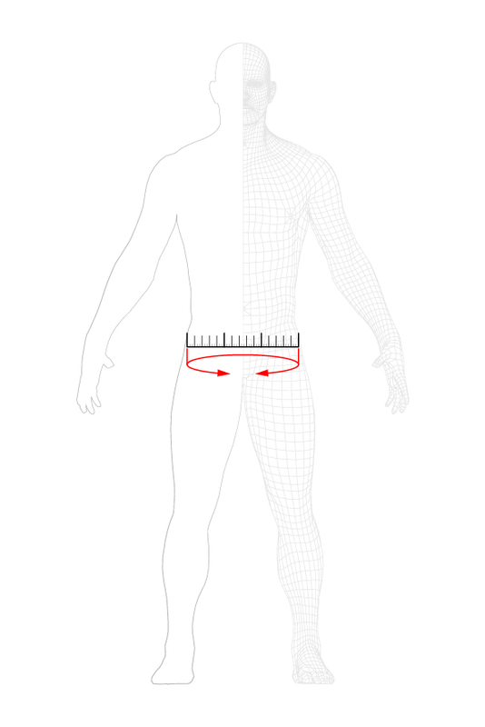 how to measure: hip