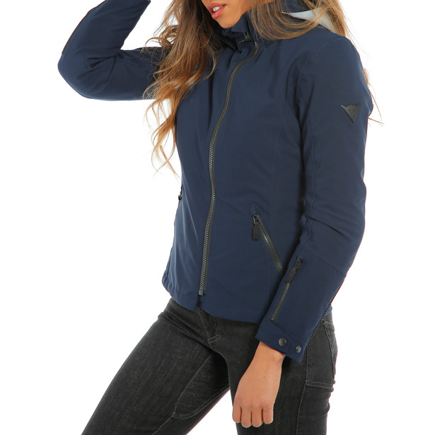 MAYFAIR LADY D-DRY JACKET GLACIER-GRAY/BLACK-IRIS/BLACK-IRIS- Riding in the rain
