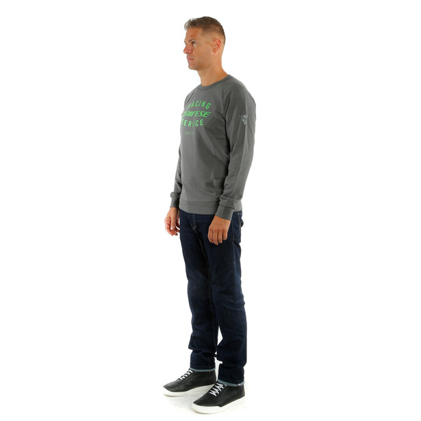 *PADDOCK SWEATSHIRT CHARCOAL-GRAY/GREEN- undefined