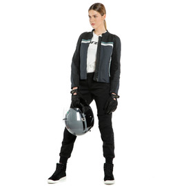 LOLA 3 LADY LEATHER JACKET BLACK/EBONY/N.-ATLANTIC/GLACIER-GRAY- Leather