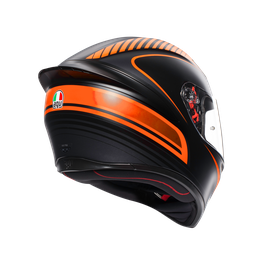 K1 MULTI ECE2205 - WARMUP MATT BLACK/ORANGE - Integrale