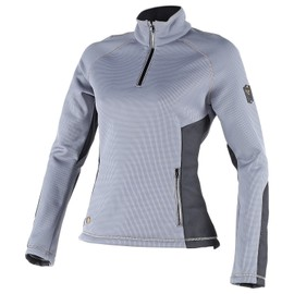 SIRIA SWEATER LADY STEEL-GRAY/BLACK- Unterwäsche