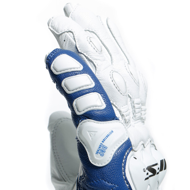 4-STROKE 2 GLOVES WHITE/LIGHT-BLUE- Leder