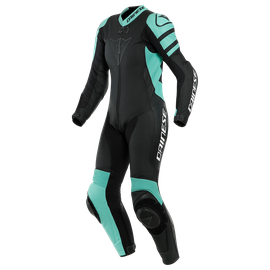 KILLALANE 1 PC PERF. LADY LEATHER SUIT BLACK-MATT/ACQUA-GREEN/BLACK